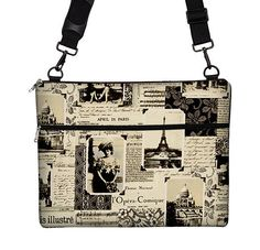 Macbook Air 13 inch Laptop Bag MacBook Case Sleeve Cover Mac Laptop Messenger Bag with Strap  - April in Paris Eiffel Tower on Etsy, $69.99