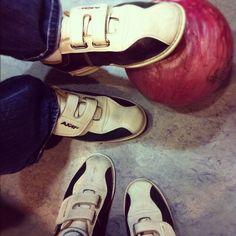 Fashionable bowling shoes.