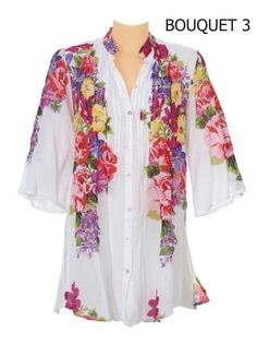 "Camisa Bouquet  £38  www.travelwearmiro.com  Okay, now picture this Floral Camisa with ""Purple Passion"" B'Donks....This is a must B'Donks Girls!"