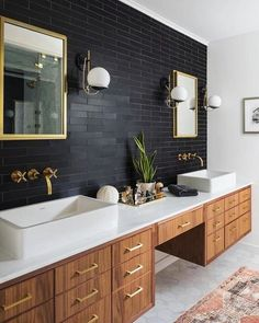 Bathroom decor for your master bathroom renovation. Discover master bathroom organization, master bathroom decor suggestions, bathroom tile suggestions, bathroom paint colors, and more. Bad Inspiration, Bathroom Inspiration, Bathroom Inspo, Cool Bathroom Ideas, Earthy Bathroom, Dark Wood Bathroom, Rustic Master Bathroom, Peach Bathroom, Masculine Bathroom