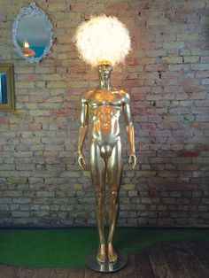 Upcycled vintage male mannequin lamp with 24 by MuckNBrassLondon