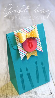 By Teneale Williams | Birthday Yay Stampi Set, Gift Bag Punch Board and Cherry on Top DSP | Stampin' Up! Artisan Blog Hop