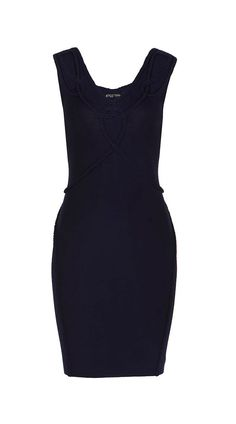 The Roped dress - wear it frontwards or backwards!  Scoop neckline on one side and V neckline on the other.