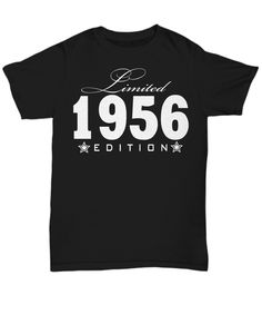 1984 Limited Edition any year personalized Birthday Party Great Birthday Gifts, Baby Shirts, Birthday Shirts, Long Sleeve Tees, T Shirts For Women, Trending Outfits, Prints, Mens Tops, Usa