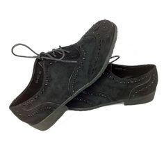 Moda Dedo Do Pé Redondo Rendas Até Mulheres Oxfords Vintage Flock Rhinestone Sapatos Oxford Para As Mulheres Ladies Casual Diárias Sapatos Baixos Nova Flats em Oxfords de Sapatos no AliExpress.com | Alibaba Group