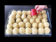 YouTube Cake Recipes, Dessert Recipes, Desserts, Turkish Recipes, Ethnic Recipes, Sugar Bread, Arabic Sweets, No Bake Treats, Confectionery