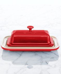 Le Creuset Stoneware Butter Dish in White