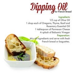 Young Living Essential Oils: Dipping Oil Recipe for French Bread