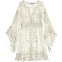 CALYPSO St. Barth Playla Hand Embroidered Dress