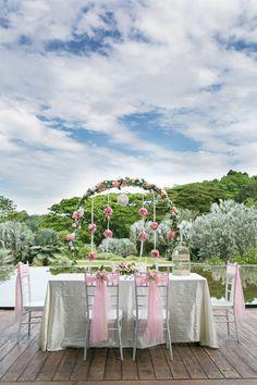 Eric and Stella's DIY Garden Wedding at HortPark, Singapore. Photo by TT Photography. #wedding #singapore #singaporewedding