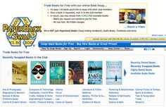PaperBack Swap lets you trade books for others that you want for free.