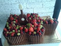 chocolate guitar cake