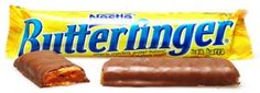 Butterfinger, my favorite candy bar. Candy Bar Cookies, Cookie Bars, Bulk Candy, Candy Store, Free Candy, Favorite Candy, My Favorite Food, Favorite Things, Favorite Recipes