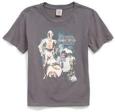 Junk Food 'Star Wars TM - Robots' T-Shirt (Big Boys) It has BB-8, My favorite