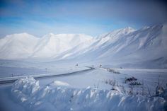 "Have you ever seen the TV show ""Ice Road Truckers""? If so, then you've seen Alaska's Dalton Highway — a stretch of gravel and dirt that runs Alaska, Dalton Highway, New Hyundai, Mother Nature, Lonely, North America, Paths, Remote, Tourism"