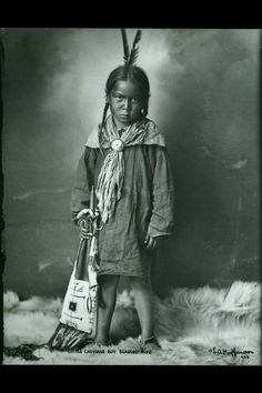 """Little Cheyenne Boy Bearing Pipe"", 1878"