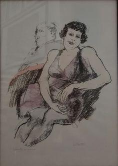 Remo Squillantini - Litografia colorata a mano - anni '80