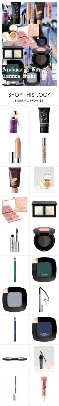 Aishwarya Rai Cannes Make Up by oroartye-1 on Polyvore featuring beauty, Sisley, NARS Cosmetics, tarte, Bare Escentuals, L'Oréal Paris, Urban Decay, Marc Jacobs, Clinique and Anastasia Beverly Hills