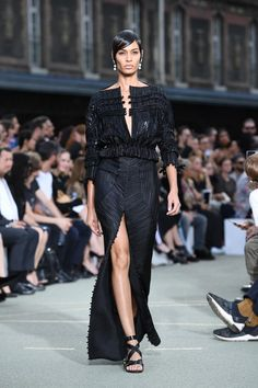 Pin for Later: The Women Ruled the Runway at Givenchy's Men's Show Joan Smalls oozed moody, sexy glamour.