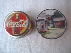 """Coca Cola Lot Of 2 Tins And 9 Coasters """" AWESOME COLLECTABLE ..."""