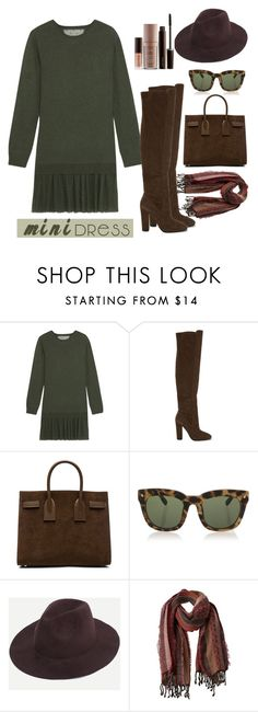 """Mini dress"" by faten-m-h ❤ liked on Polyvore featuring RED Valentino, ALDO, Yves Saint Laurent, Dsquared2, prAna, Laura Mercier and minidress"