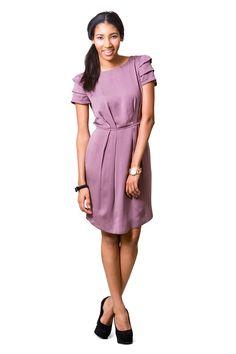 Stella Draped Dress & Top from Pattern Runway Drape Dress Pattern, Sundress Pattern, Dress Sewing Patterns, Clothing Patterns, Diy Clothing, Date Dresses, Dresses For Work, Kimono Dress, Dress Up