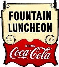*COCA-COLA ~ Soda Fountain Luncheonette Sign