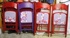 upcycled wooden folding chairs
