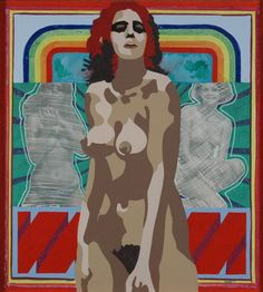 Kym Faehse, Australia (b.1948) • Rainbow in Me 1970 • Acrylic on board • Gift of Dr D.H. Chamberlain 1972 • 1275 #nude #rainbow #collection Asian Art, Metal Working, Contemporary Art, Rainbow, Nude, Australia, Wallpaper, Gallery, Board