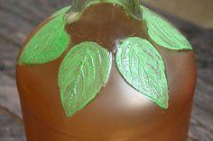 Fall Decor: DIY Frosted Pumpkin Vase