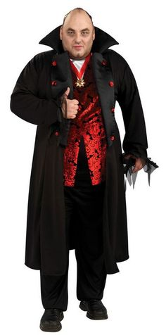 deluxe vampire costumes plus size men 5240 take a big bite out of halloween in this - Size 18 Halloween Costumes