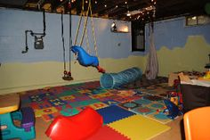 playroom in unfinished basement ideas