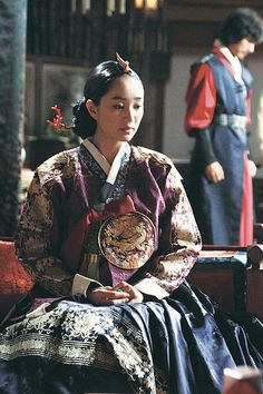 "Park Soo Ae in the movie ""A sword with no Name."" It's a beautiful movie, and so are the actors and esp. the wardrobe!"