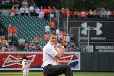 Mormon missionary throws first pitch at Camden Yards during LDS Family Night with Orioles | Deseret News