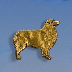 Brosche Australian Shepherd flach Breite 24 mm / Höhe 21 mm Silbergewicht: 4,1 g