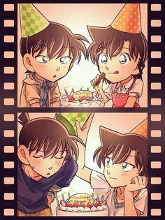 Happy birthday to shinichi Kudo Ran And Shinichi, Kudo Shinichi, Conan Movie, Detektif Conan, Magic Kaito, Sherlock Holmes, Detective Conan Shinichi, Detective Conan Wallpapers, Gosho Aoyama