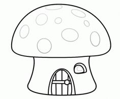 Mushroom coloring page
