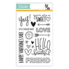 Love the fonts on all of these sentiments. Simon Says Clear Stamps HELLO BEAUTIFUL sss101603 Preview Image