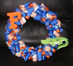 Florida Gator Wreath by SouthernMomsDesigns on Etsy, $50.00