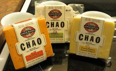 Field Roast Chao Cheese Review! All 3 Flavors!! (Vegan, dairy-free) Vegan Cheese Ball Recipe, Cheese Ball Recipes, Sans Lactose, Lactose Free, Dairy Free, Roast, Stuffed Peppers, Bread, Brot