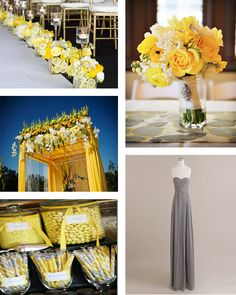 New Jersey wedding and special event planning Yellow Grey Weddings, Gray Weddings, Yellow Wedding, Wedding Colors, Wedding Nails For Bride, Wedding Bridesmaids, Wedding Bouquets, Wedding Dresses, Bear Wedding