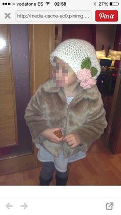 Boina crochet niña