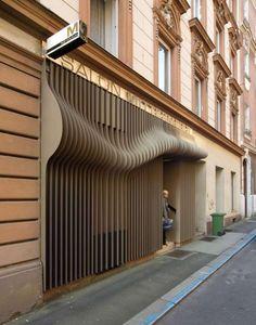 3D Hairstyle Facades: The Hair Couture Salon Exterior Design by X Architekten