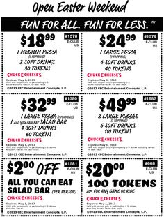 261 best coupons images on pinterest coupon coupons and 30th 100 tokens for 20 bucks and more at chuck e cheese pizza coupon via the coupons fandeluxe Choice Image
