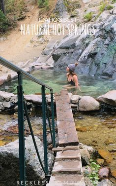 Space Guide Guide to Idaho's Best Natural Hot Springs - Make sure you don't miss these beautiful, secluded (and free!) hot springs on your next trip to Idaho's beautiful National Forest. Places To Travel, Places To See, Travel Destinations, Idaho Hot Springs, Istanbul, Barcelona, Vacation Spots, Vacation Ideas, Greece Vacation