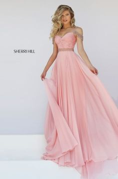 Sweetheart Neckline Blush Beaded Strap Sherri Hill 50086 Open Back 2016 Ruched Long Chiffon Evening Dresses Straps Prom Dresses, Sherri Hill Prom Dresses, Prom Dresses 2016, Grad Dresses, Dance Dresses, Club Dresses, Chiffon Dresses, Prom 2016, Dress Prom