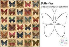 Butterflies Applique Quilt Pattern & Stencil ~ Edyta Sitar Laundry Basket Quilts #LaundryBasketQuilts