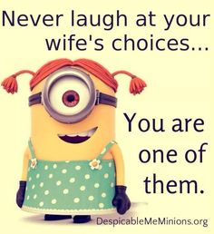 Joke Quotes Husband Love Quotes Top 50 Very Funny Minions Picture Quotes minion Joke Quotations And Quotes Top 50 Very Funny Minions Picture Quotes Quotations And Quotes Amor Minions, Minion Jokes, My Minion, Girl Minion, Minion Stuff, Evil Minions, Minion Banana, Despicable Minions, Cute Minions