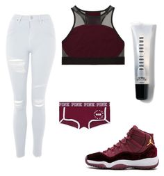 """"""""""" by aniyamcvay on Polyvore featuring Victoria's Secret PINK, Topshop, Victoria's Secret and Bobbi Brown Cosmetics"""