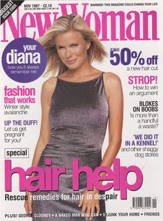 New Woman Magazine Cover Nov 1997 - Makeup by Ariane Poole.